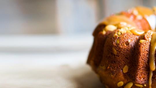 Kürbiskuchen mit süßem Kürbismus
