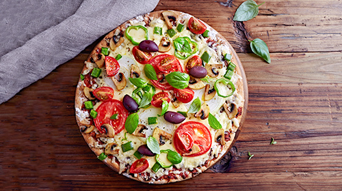 Low Carb-Pizza - vegetarisch lecker!